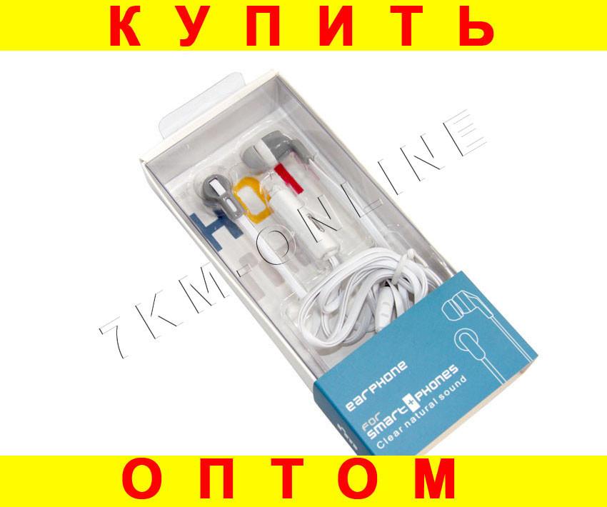 Наушники вакуумные Ditmo ME-30 с микрофоном белые
