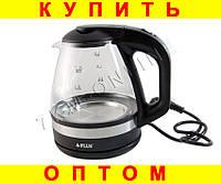 Электрочайник стеклянный чайник 1.7 л с подсветкой