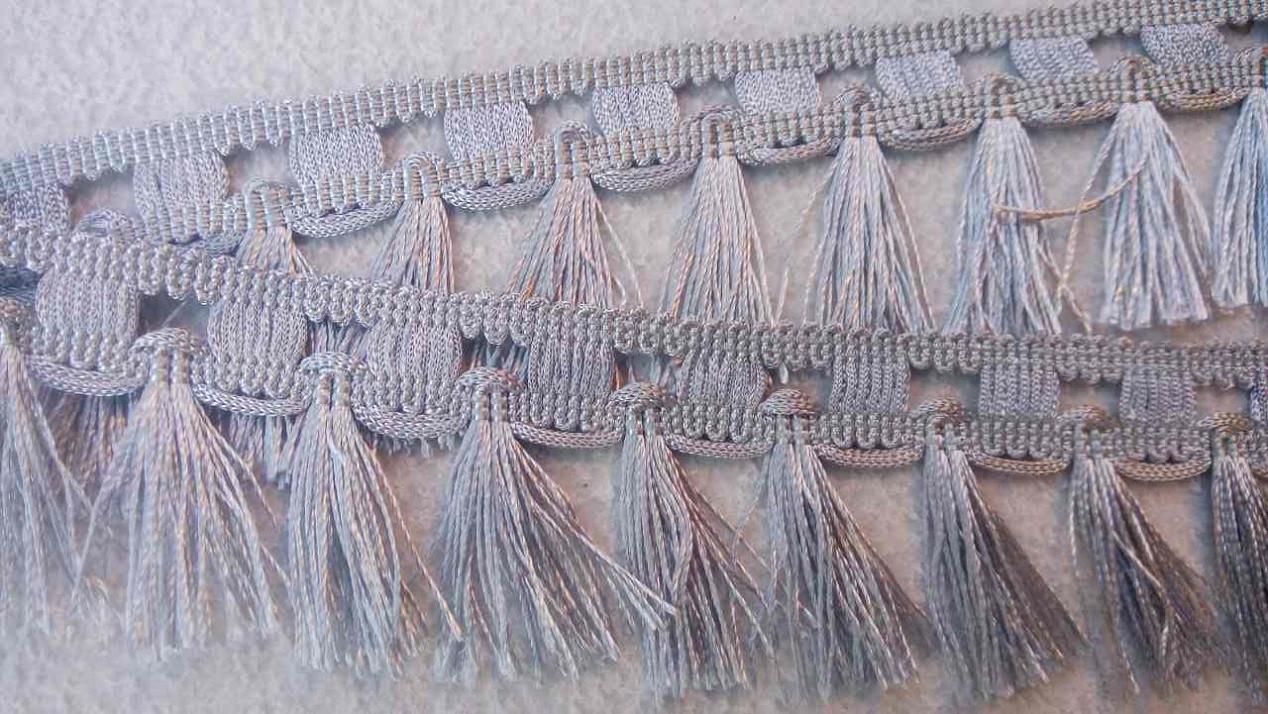 Бахрома DMT Y003-12 (25m), Светло-серый