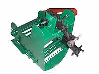 Картофелекопатель механизированный КМ-6 для тяжелых мотоблоков привод справа (транспортёрная) (БУЛАТ)