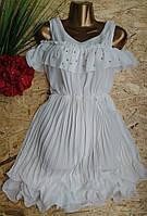 Платье Плиссе 805 белый 42-46р