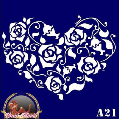 Трафарет для Био Тату № А21