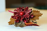 Заколка карминовый цветок, фото 1