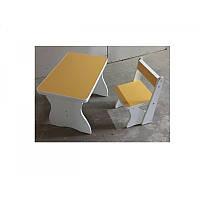 Столик MV-504-5 дерев'яний, 1 стульчик, жовтий