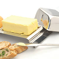 Масленка Combo с метал. крышкой и ножом 19,3 х 12 см