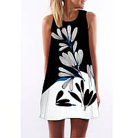 Платье с черно-белым принтом РМ7268