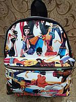 Рюкзак женская Искусств кожа Принт красивый маленький городской стильный только оптом