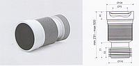 Гофра армированная D 115 длина 500 мм