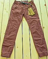 Модные  брюки на манжетах  для мальчика на рост 134-164 см