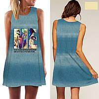 Платье летнее голубое СС7267