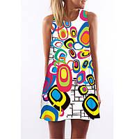 Платье летнее с рисунком СС7266