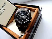 Модные кварцевые мужские часы Hublot с календарем, минеральное стекло, купить мужские наручные часы Hublot, фото 1