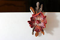 Заколка с алым цветком , фото 1