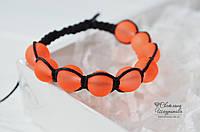 Браслет Шамбала оранжевый, фото 1