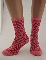 Носки женские разноцветные хлопок розовые с орнаментом Ж-900023
