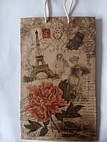 Пакет подарочный бумажный крафт малый 11х18х6 (21-042)