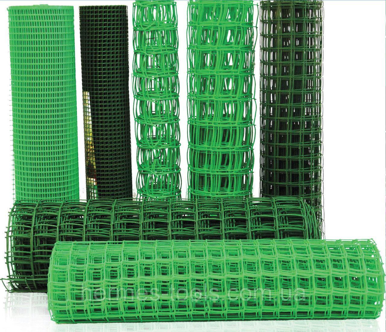 Садовая решетка яч.10*10мм х1м пластик 20м/рул Sequoia сетка садовая для ограждений, для птиц