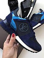 Стильные женские кроссовки LOUIS VUITTON синие