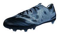 Футбольные Бутсы adidas F30 FG Leather - Core Black/Silver - B35973 кожа  (оригинал), фото 1