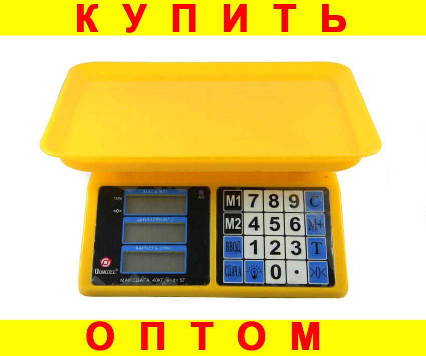 Весы торговые Domotec ACK MS 266 30kg 4v + ПОДАРОК: Держатель для телефонa L-301