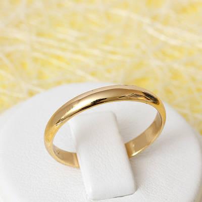 002-2392 - Позолоченное обручальное кольцо, 17, 17.5 р.