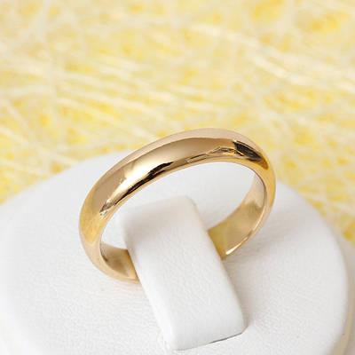 002-2393 - Позолоченное обручальное кольцо, 17.5 р.