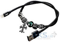 Кабель USB Remax Jewellery RC-058i Lightning 0.5m Black