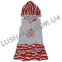 Платье Рыбки на рост 104-110 см - Кулир
