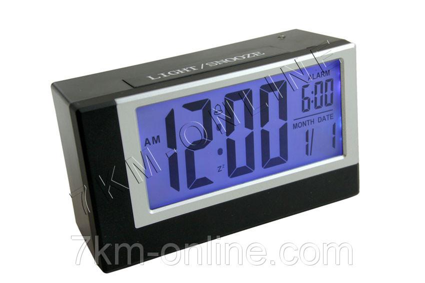 Настольные часы-будильник 2165 с подсветкой