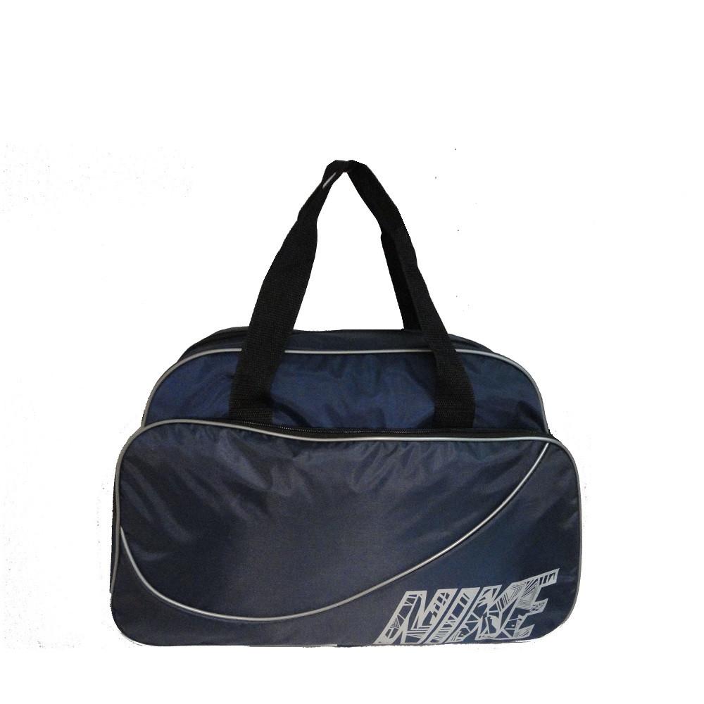 c67bb9aa4947 Спортивная сумка Nike реплика среднего размера синяя с серой отделкой -  e-sumki.com