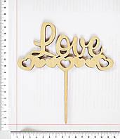 Топер Love 16 х 15 cм