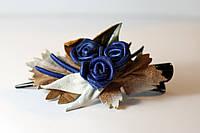 Заколка синие розы, фото 1
