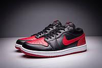 Мужские кроссовки Air Jordan Retro 1 Low (Bred)