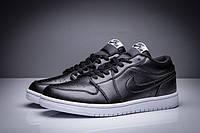Мужские кроссовки Air Jordan Retro 1 Low (Black/White), фото 1