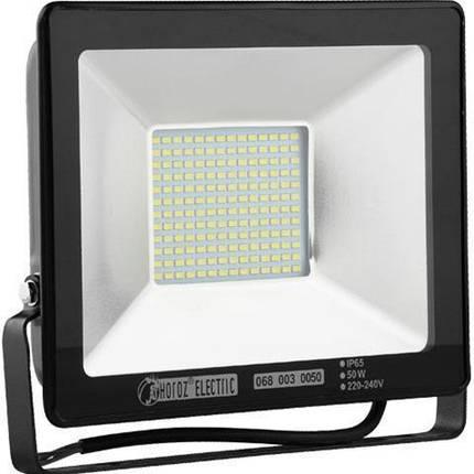 Світлодіодний LED прожектор SMD Horoz Electric Puma-50 50Вт 50W, 6400K, фото 2