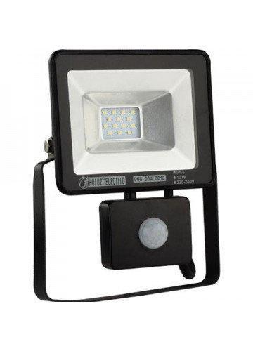 Світлодіодний LED прожектор SMD Horoz Electric Puma/S-10 10Вт 10W с датчиком движения