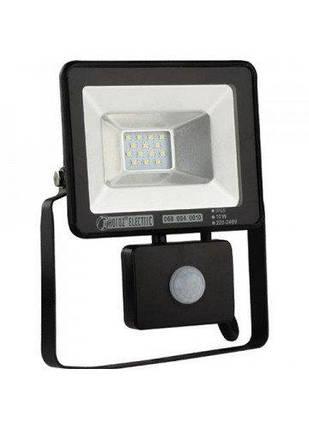 Світлодіодний, LED прожектор 10W з датчиком руху IP65, фото 2