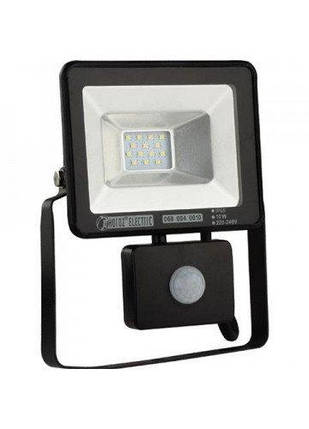Світлодіодний LED прожектор SMD Horoz Electric Puma/S-10 10Вт 10W с датчиком движения, фото 2