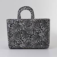 Женская сумка Dior леопард ч/б