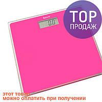Весы напольные Saturn ST-PS1247 Pink / Стеклянные электронные весы