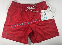 Мужские плавки/шорты Lacoste | Лакоста красные