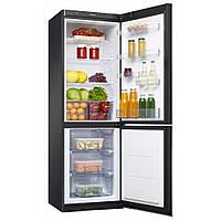 Холодильник двокамерний AMICA IN FK339.6GBF черное стекло