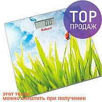 Весы напольные Saturn ST-PS0282 Grass / Стеклянные электронные весы