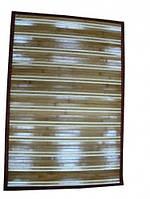 Коврик бамбуковый без рисунка, на подкладке - 60 х 90 см.