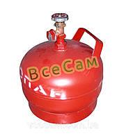 Баллон газовый 5л с вентилем ВБ-2 /Севастополь/