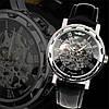 ORIGINAL Мужские механические часы Winner Silver HOLLOW (механика с автоподзаводом), часы Виннер механические