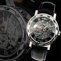 ORIGINAL Мужские механические часы Winner Silver HOLLOW (механика с автоподзаводом), часы Виннер механические, фото 1