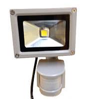 Прожектор с датчиком LED 10w 6500K IP44 1LED LEMANSO серый