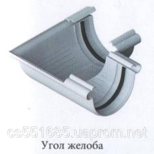 Угол желоба 90° - белый. 125/95. Водосточные системы Альта-Профиль