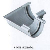 Угол желоба 90° - белый. 125/95 . Водосточные системы Альта-Профиль